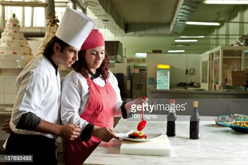 Working chefs : Stock Photo