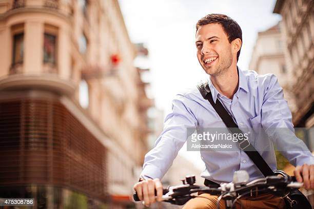 Working day on a bicycle