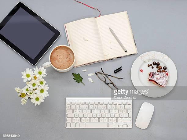 Working desk with objects