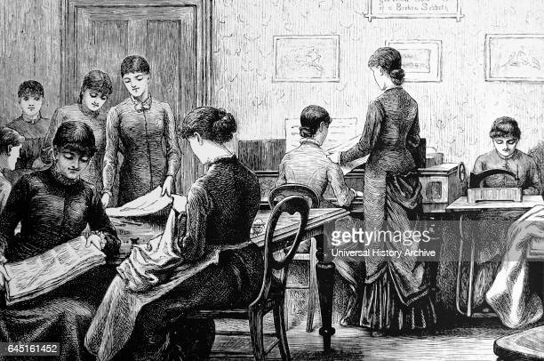 Working girl's hostel at Victoria House Bayswater Road London 1882