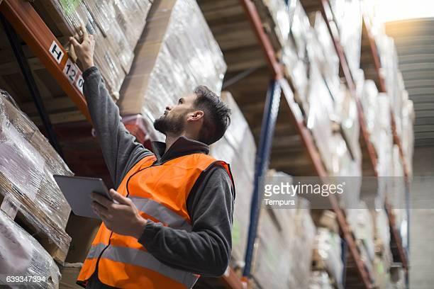 Working hard. Wearhouse workers.