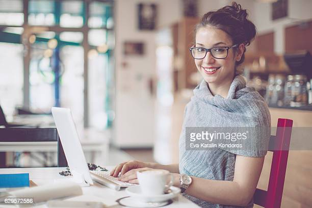 Arbeiten in einem Café