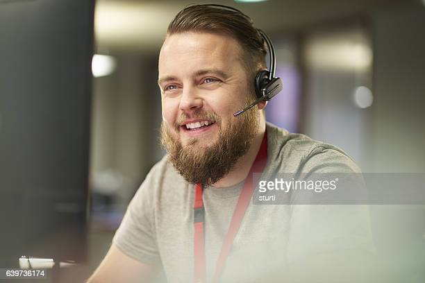 working in a call centre