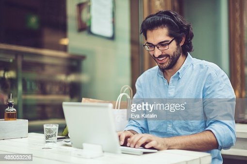 Working in a coffee shop