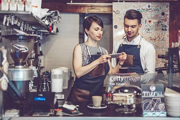 Arbeiten in einem coffee shop