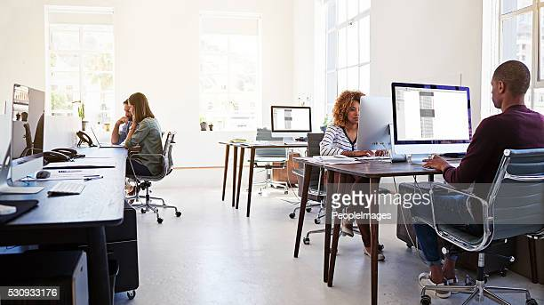 Working in an open plan office