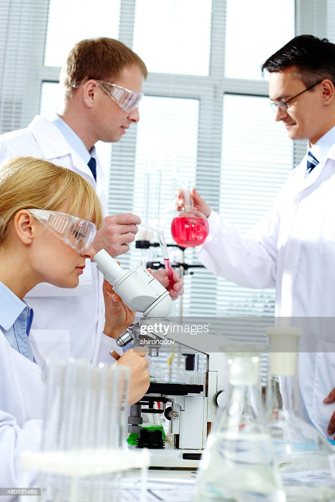 Working in lab : Stock Photo