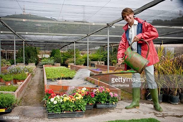 Arbeiten im Garten-Center