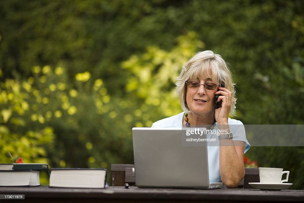 Working in the Garden : Stock Photo