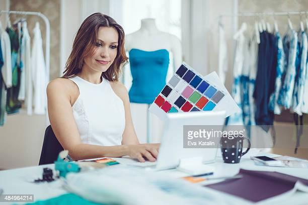 Working in the showroom