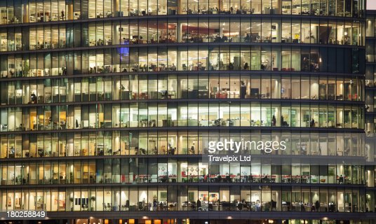 Working late, Financial District, London : Stock Photo