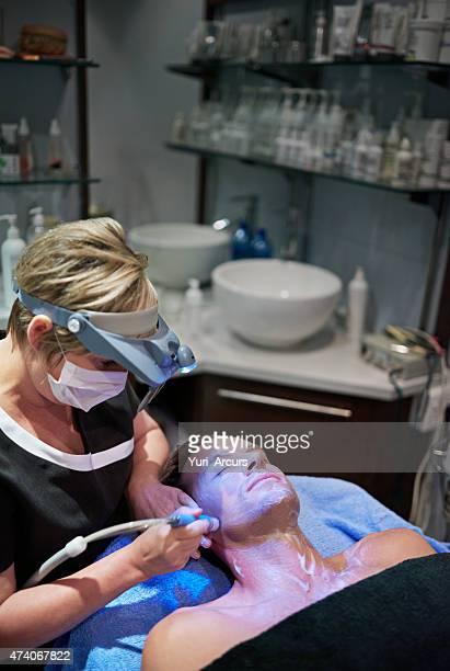 Die Magie auf seine Haut mit einer laser-Behandlung