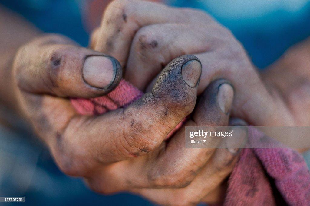 Working Man's Hands - Dirt Under Fingernails