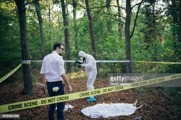 Working on a crime scene