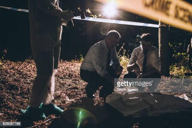 Working on a murder scene
