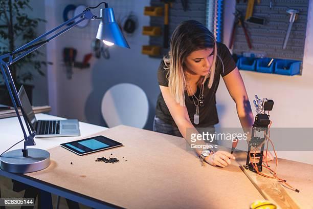 Working on a robotics arm