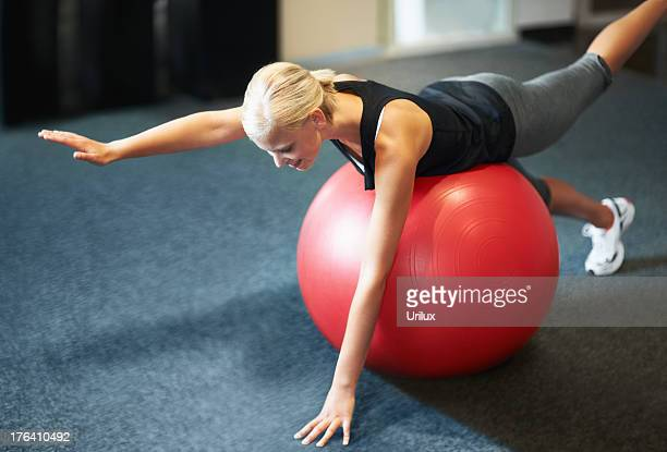 Working on balance and strengthening her core