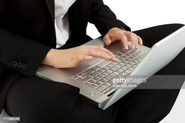 Lavorando sul computer portatile