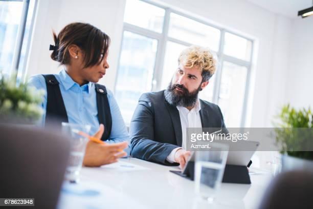 Working on presentation together