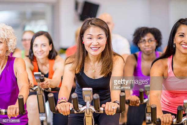 Working Out on Stationary Bikes