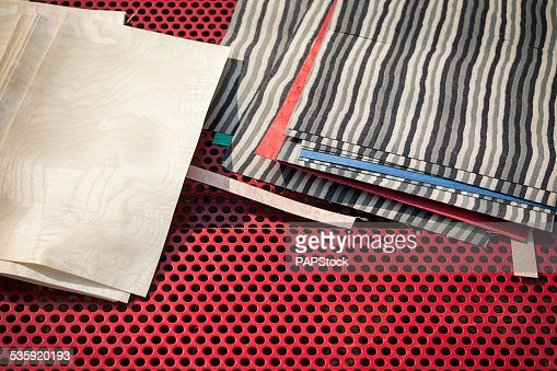 Working table mess : Stock Photo