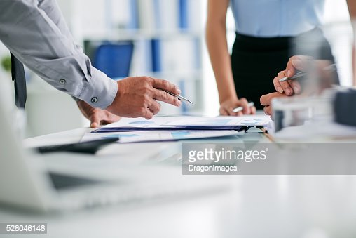 Working with documents : Stock Photo