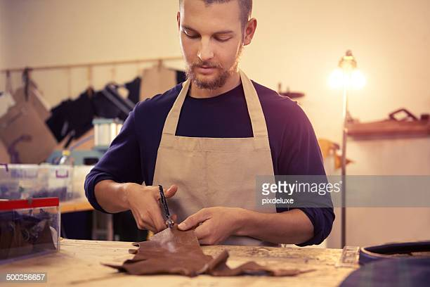 Working with leather is an art in itself
