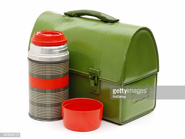 Workman's vintage lunchbox and thermos