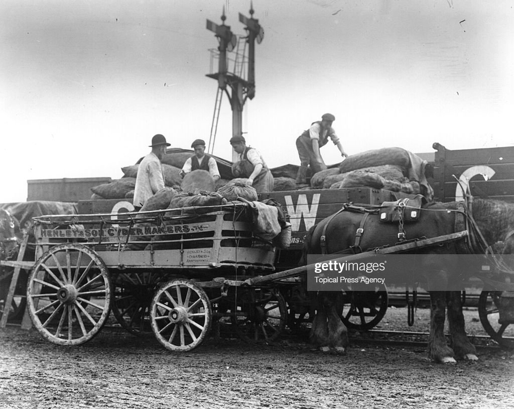 workmen-unloading-apples-from-a-goods-wa