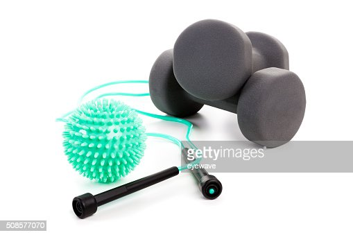 Workout Equipment isolated : Stockfoto