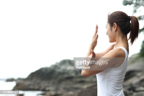 Workout Sports by the seaside : Stock Photo