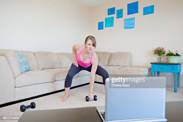 Workout Video Exercising at Home