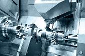 Workpiece in big CNC Lathe and Milling Machine