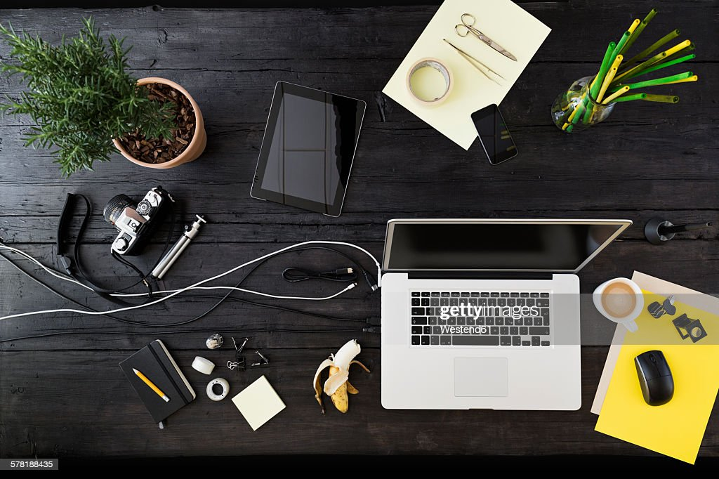Workplace at home office : Stock Photo