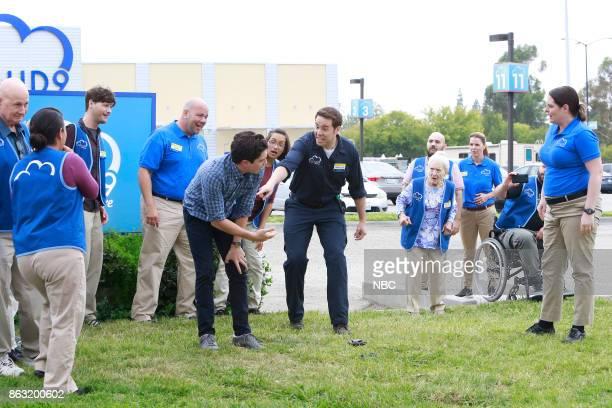 SUPERSTORE 'Workplace Bullying' Episode 304 Pictured Ben Feldman as Jonah Jon Barinholtz as Marcus Linda Porter as Myrtle Colton Dunn as Garrett...