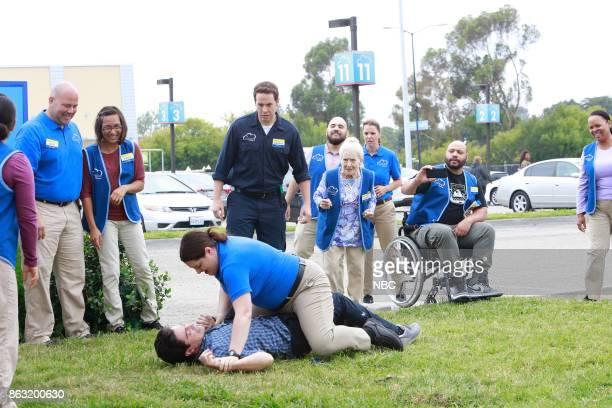 SUPERSTORE 'Workplace Bullying' Episode 304 Pictured Ben Feldman as Jonah Lauren Ash as Dina Jon Barinholtz as Marcus Linda Porter as Myrtle Colton...