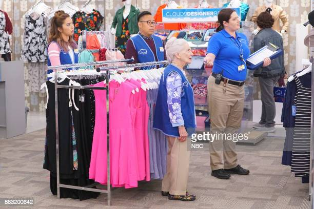 SUPERSTORE 'Workplace Bullying' Episode 304 Pictured Nichole Bloom as Cheyenne Nico Santos as Mateo Linda Porter as Myrtle Lauren Ash as Dina
