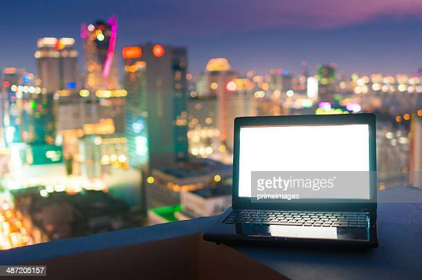 Workplace in the night city