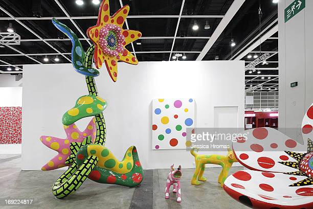 Works by by Yayoi Kusama represented by gallery Victoria Miro London and Ota Fine Arts Tokyo Singapore are displayed at Art Basel May 22 2013 in Hong...