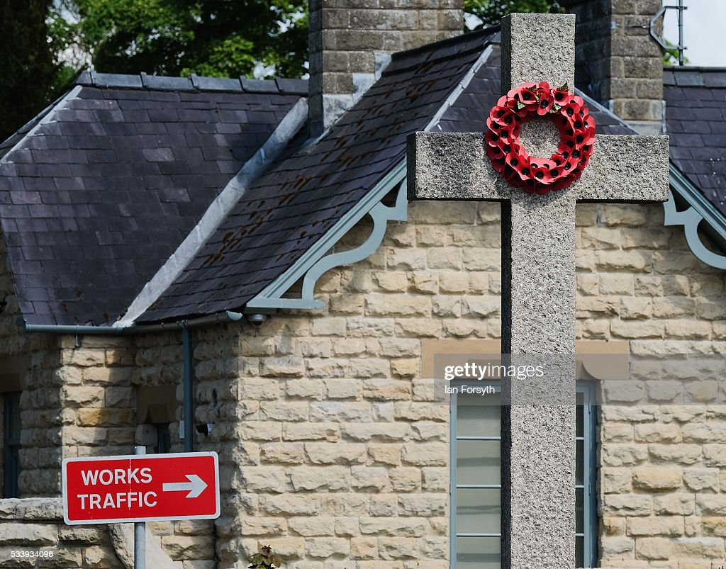 A works traffic sign pointing to the KM8 drill site can be seen near the war memorial in the village of Kirby Misperton on May 24, 2016 in Malton, England. North Yorkshire Planning and Regulatory Committee voted seven to four in favour of a planning application submitted by Third Energy to conduct fracking at the KM8 drilling site near the village. Hydraulic Fracturing, or fracking, is a technique designed to recover gas and oil from shale rock.