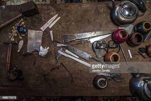 Workstation in a silver workshop