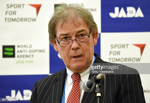World AntiDoping Agency director general David Howman delivers a keynote speech during the International AntiDoming Seminar in Asia and Oceania in...