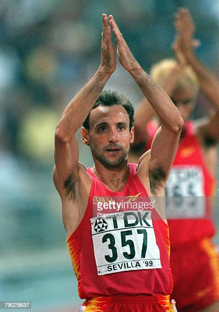 World Athletics Championships Seville Spain 2029 August Men's 1500 Metres Final Spain's Fermin Cacho after the race