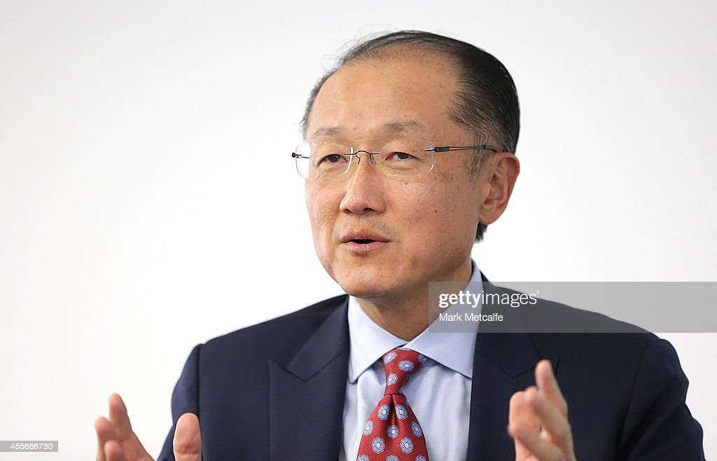 World Bank Group President <a gi-track='captionPersonalityLinkClicked' href=/galleries/search?phrase=Jim+Yong+Kim&family=editorial&specificpeople=2302483 ng-click='$event.stopPropagation()'>Jim Yong Kim</a> answers questions from the audience at Bloomberg on September 19, 2014 in Sydney, Australia. <a gi-track='captionPersonalityLinkClicked' href=/galleries/search?phrase=Jim+Yong+Kim&family=editorial&specificpeople=2302483 ng-click='$event.stopPropagation()'>Jim Yong Kim</a> is visiting Australia to attend the G20 Finance Ministers and Central Bank Governors.