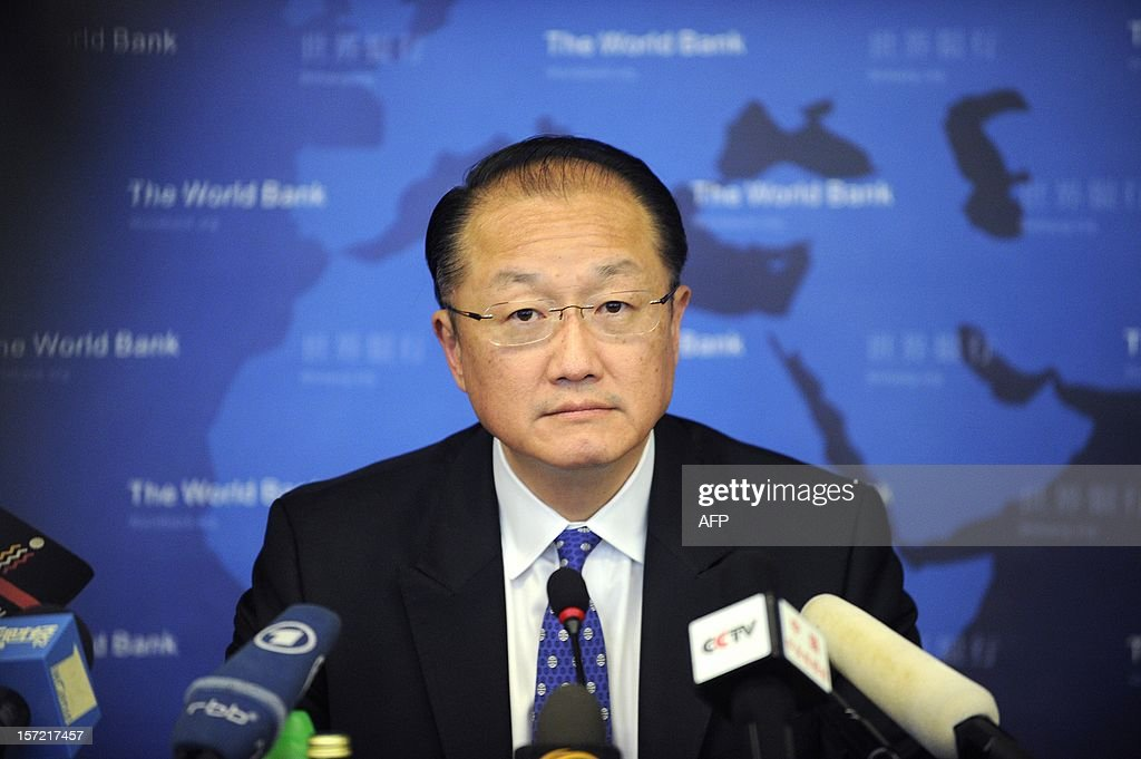 World Bank Group President Jim Yong Kim attends a press conference in Beijing on November 30, 2012. The World Bank is to launch a joint study with Beijing on urbanisation in China, one of the great human migrations of modern times, it said on November 30. AFP PHOTO / WANG ZHAO