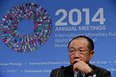 World Bank Group President Jim Yong Kim holds a news conference during the International Monetary FundWorld Bank Group annual meeting October 9 2014...