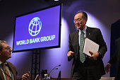 World Bank Group President Jim Yong Kim leaves after a news conference during the International Monetary FundWorld Bank Group annual meeting October...