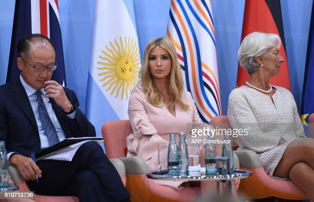 World Bank Group President Jim Yong Kim the daughter of the US President Ivanka Trump and the Managing Director of the International Monetary Fund...