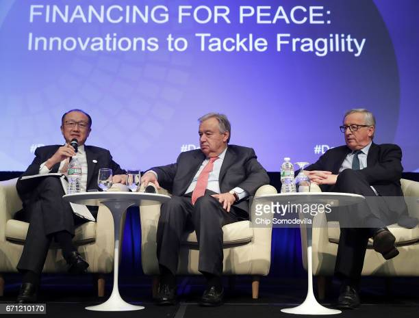World Bank Group President Jim Yong Kim United Nations Secretary General Antonio Guterres and European Commission President JeanClaude Juncker...
