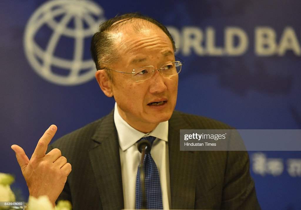 World Bank President Jim Yong Kim, address media Persons during his visit in India and signing a deal to boost solar energy globally, on June 30, 2016 in New Delhi, India.